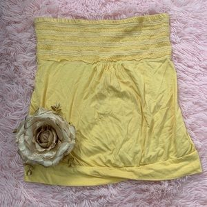 Strapless pleated top